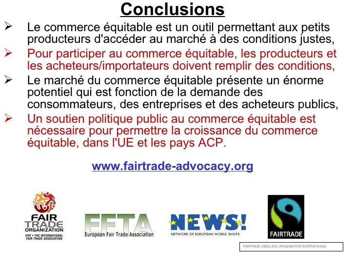 avantage du commerce equitable