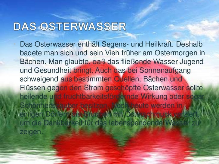 • Das Osterlamm wird im heutigen Osterbräuchen vom  Osterei und Osterhasen verdrängt. Das gebackene  Osterlamm ist jedoch ...