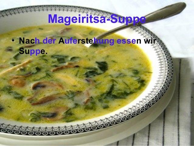 Mageiritsa-Suppe • Nach der Auferstehung essen wir Suppe.