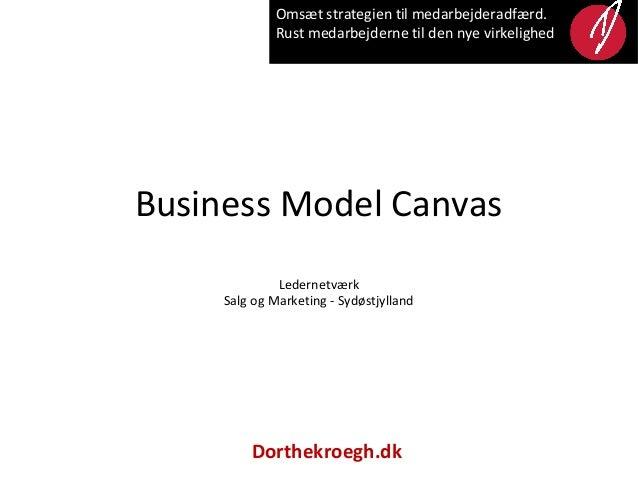 Omsæt strategien til medarbejderadfærd.             Rust medarbejderne til den nye virkelighedBusiness Model Canvas       ...