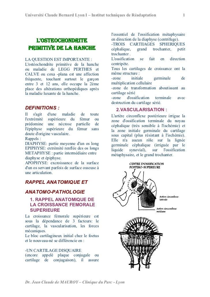 Université Claude Bernard Lyon I – Institut techniques de Réadaptation                   1                                ...