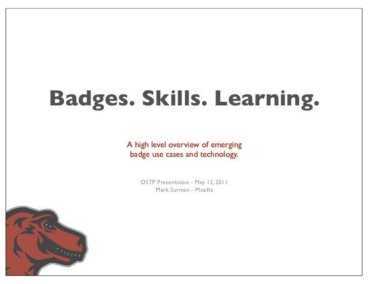 OSTP - badge slides - may 2011
