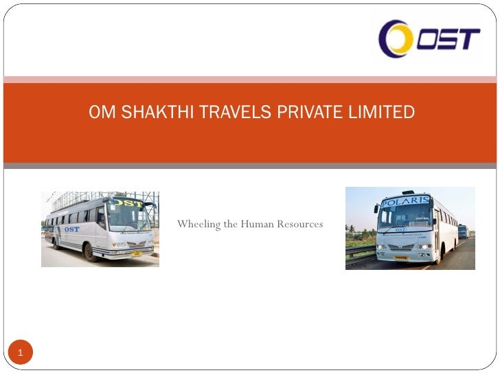 Wheeling the Human Resources OM SHAKTHI TRAVELS PRIVATE LIMITED