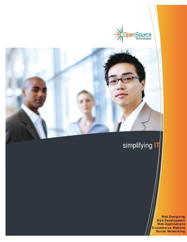 1 | P a g e simplifying IT Web Designing Web Development Web Applications E-commerce Website Social Networking