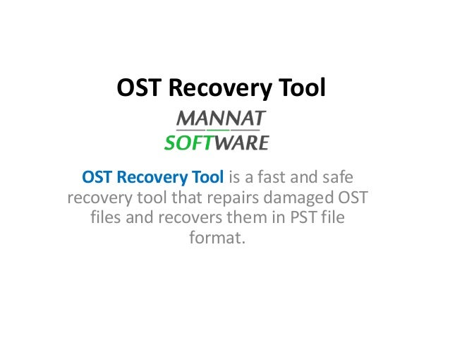 How To Open Ost File