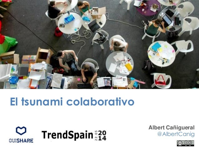 El tsunami colaborativo Albert Cañigueral @AlbertCanig