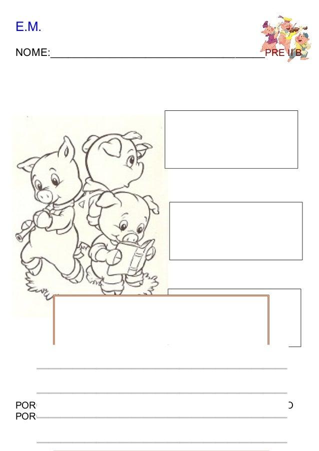 Atividades Para O Conto Os Tres Porquinhos