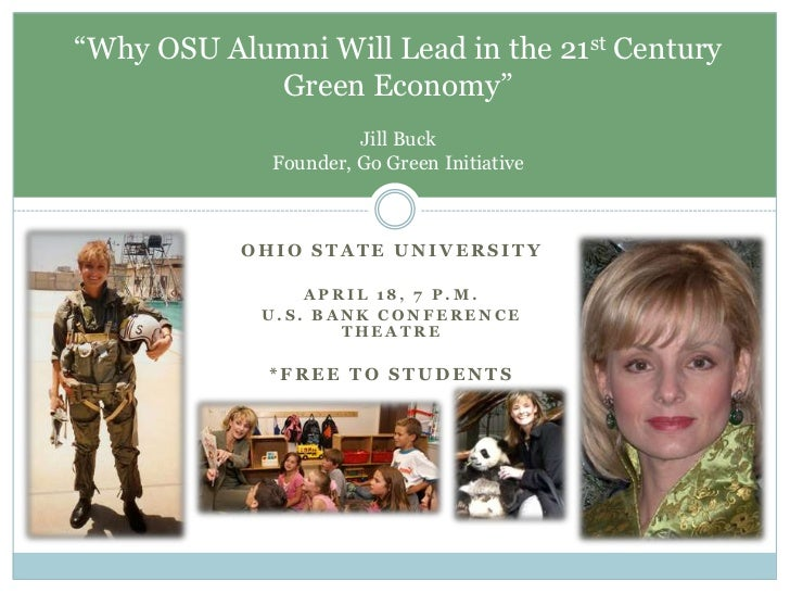 """Ohio State University<br />April 18, 7 p.m.<br />U.S. Bank Conference Theatre<br />*Free to students<br />""""Why OSU Alumni ..."""