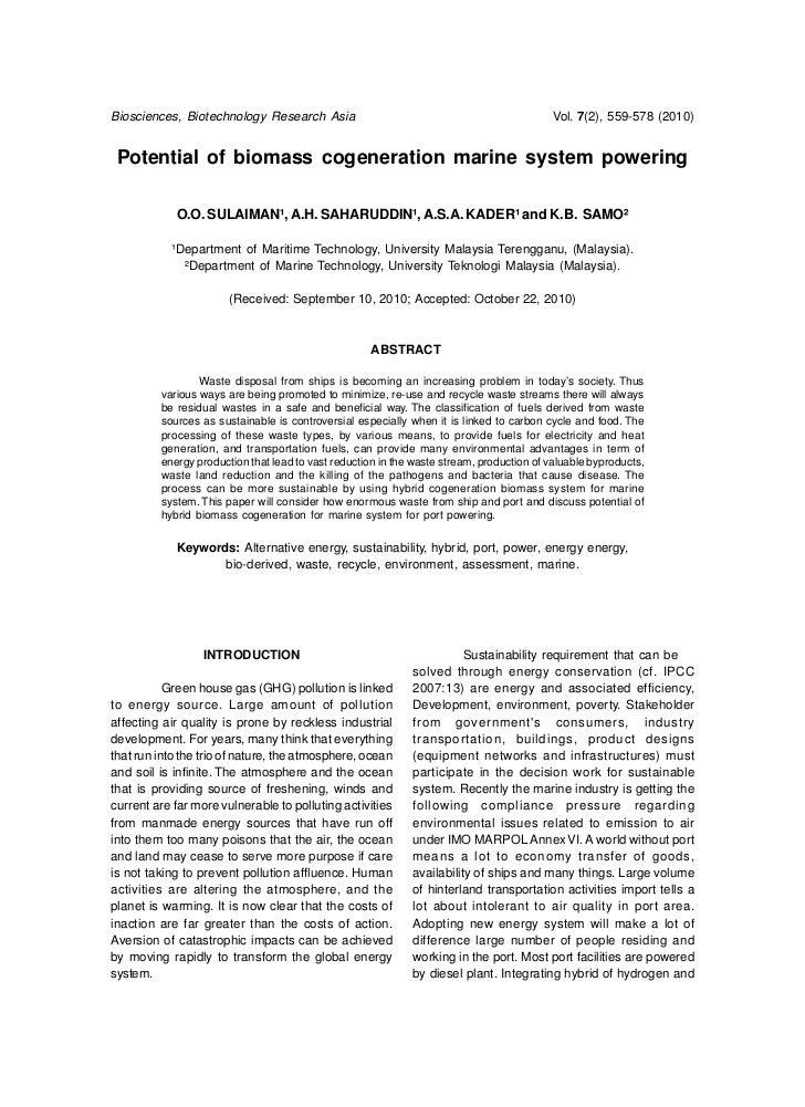 Biosciences, Biotechnology Research Asia                                                  Vol. 7(2), 559-578 (2010) Potent...