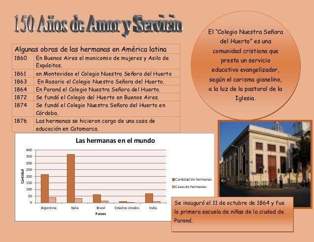 """El """"Colegio Nuestra Señora  del Huerto"""" es una  comunidad cristiana que  presta un servicio  educativo evangelizador,  seg..."""