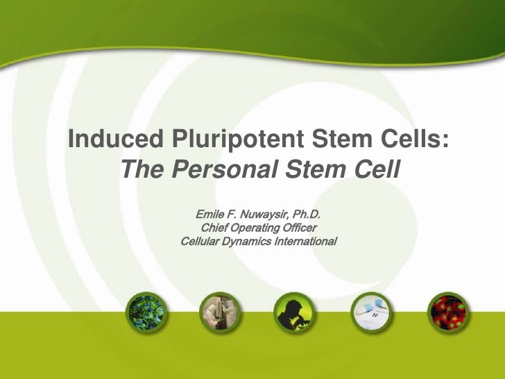 Induced Pluripotent Stem Cells:<br />The Personal Stem Cell<br />Emile F. Nuwaysir, Ph.D.<br />Chief Operating Officer<br ...