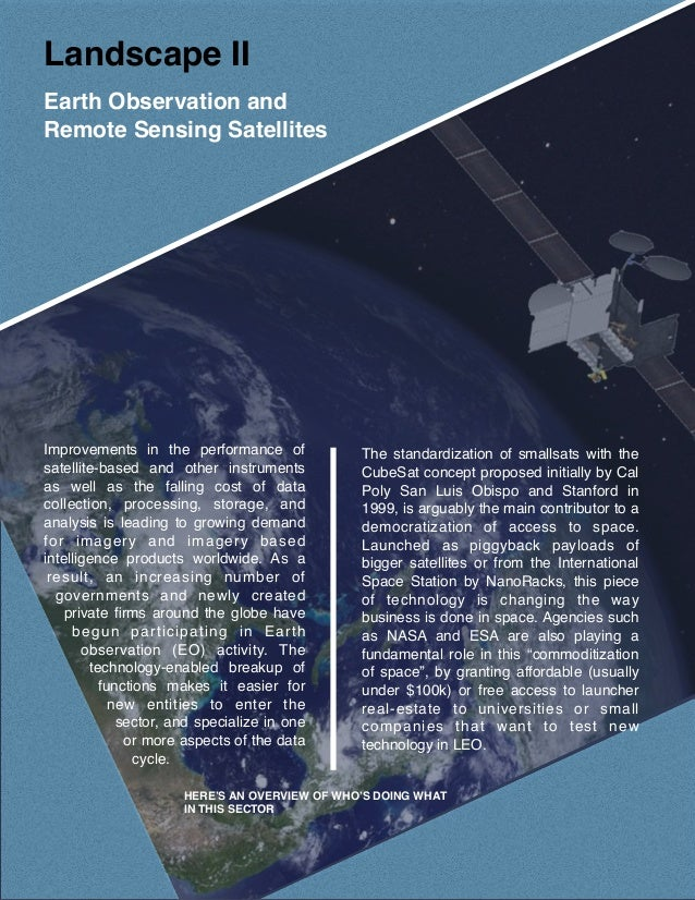 Small Satellites: Landscape and Market - New Constellations - New Use…