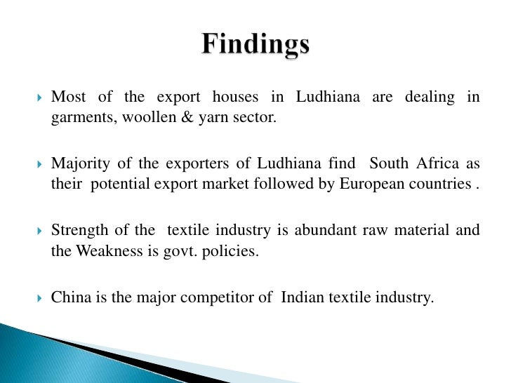 factors affecting the exports of indian textile industry Factors influencing readymade apparel purchase in of india's textile exports the indian textile industry study the factors which affect the customers.