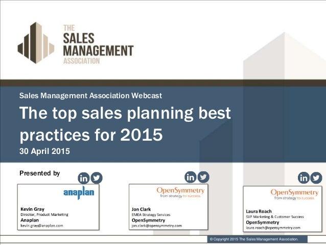 Anaplan and OpenSymmetry Top Sales Planning Best Practices – Best Sales Plan