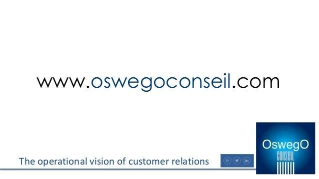 The operational vision of customer relations www.oswegoconseil.com