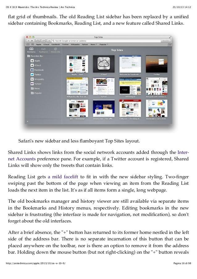 Mac OS X Mavericks - John Siracusa's Ars Technica review