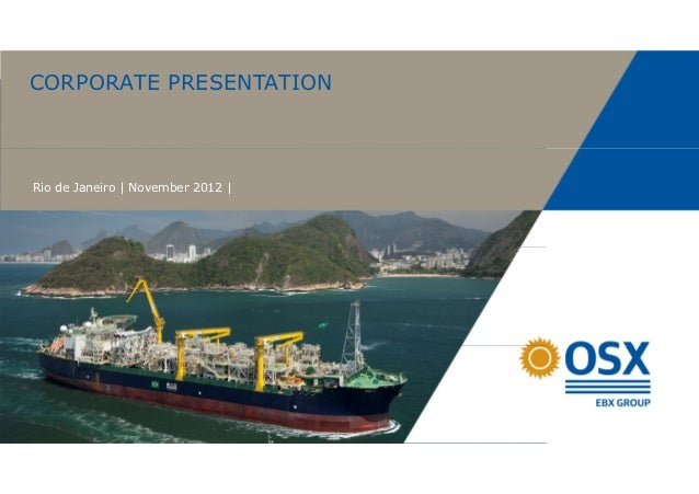 CORPORATE PRESENTATIONRio de Janeiro | November 2012 |