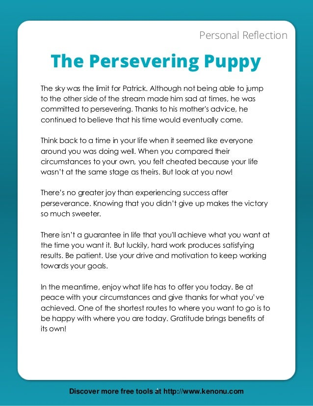 The Persevering Puppy Fable