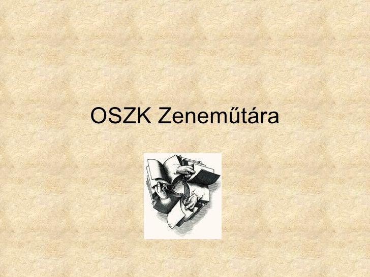 OSZK Zeneműtára
