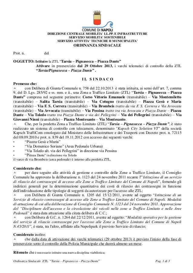 DIREZIONE CENTRALE MOBILITA' LL.PP. E INFRASTRUTTURE SERVIZIO MOBILITA' SOSTENIBILE SERVIZIO ATTIVITA' TECNICHE II MUNICIP...