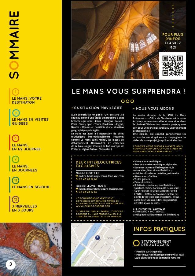 Plaquette groupes 2015 2016 francais office de tourisme du mans - Le mans office du tourisme ...