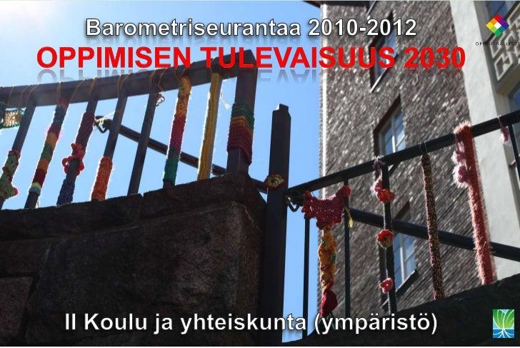 II Koulu ja yhteiskunta 20301. Ilmastonmuutos (k)2. Tiedonvälitys (d)3. Euroopan integraatio (d)4. Demokratia (k)5. Älyman...