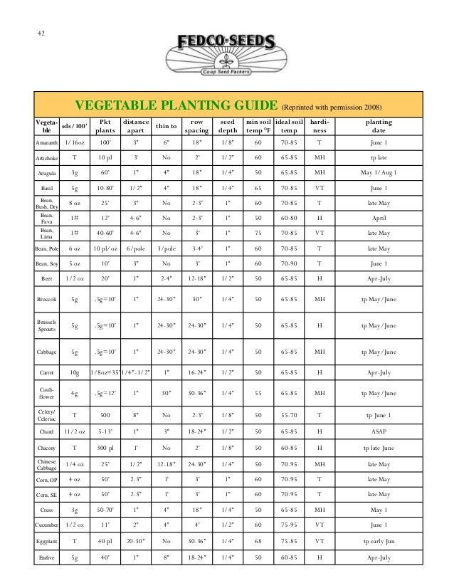 vegetable root depth chart