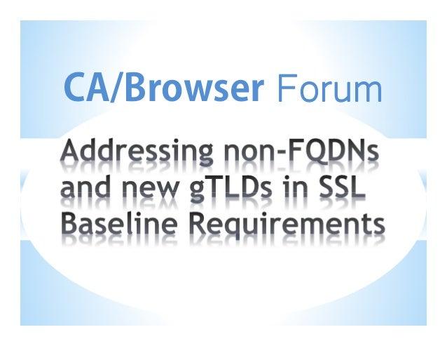 CA/Browser  Forum