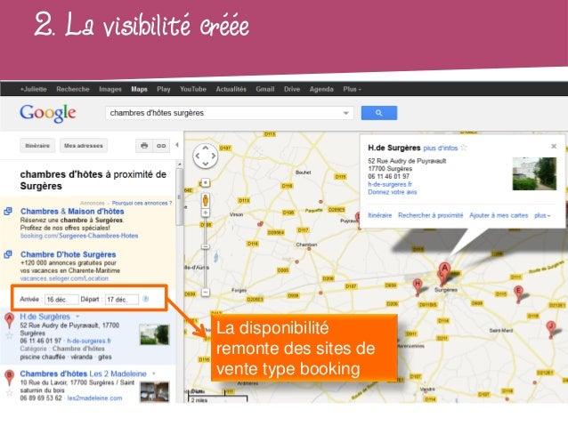 2. La visibilité créée                  La disponibilité                  remonte des sites de                  vente type...