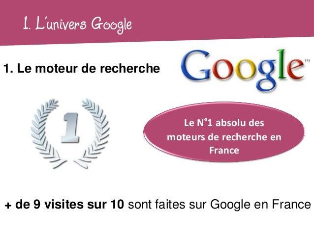 1. L'univers Google1. Le moteur de recherche                               Le N°1 absolu des                            mo...
