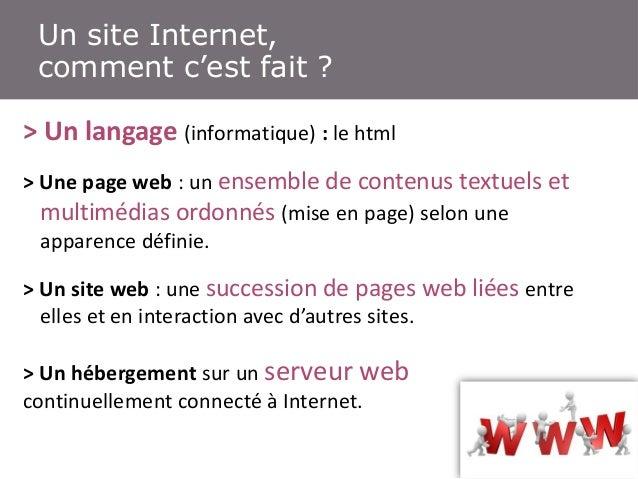 Un (toutInternet, de technique… Un site petit) peu comment c'est fait ? > Un langage (informatique) : le html > Une page w...