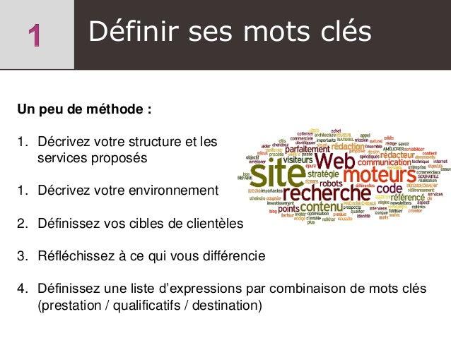 Un peu de méthode : 1. Décrivez votre structure et les services proposés 1. Décrivez votre environnement 2. Définissez vos...