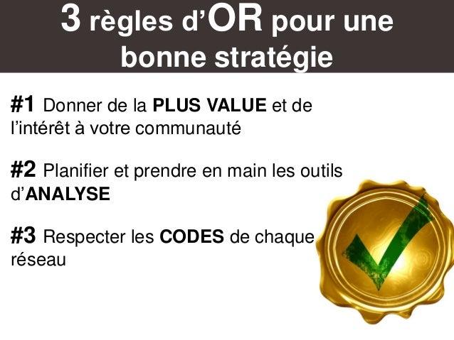 3 règles d'OR pour une bonne stratégie #1 Donner de la PLUS VALUE et de l'intérêt à votre communauté #2 Planifier et prend...