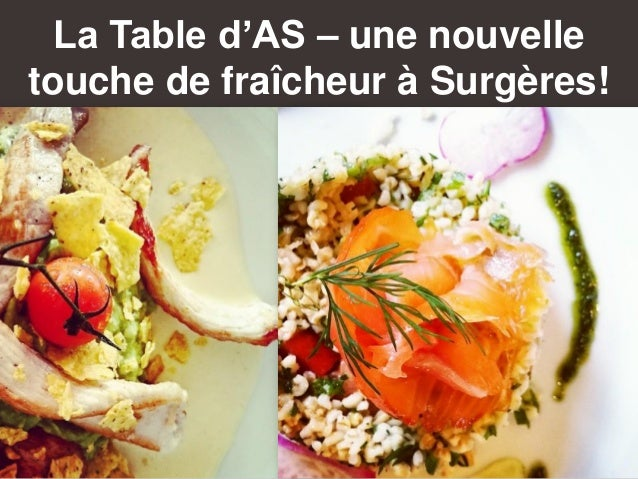 La Table d'AS – une nouvelle touche de fraîcheur à Surgères!