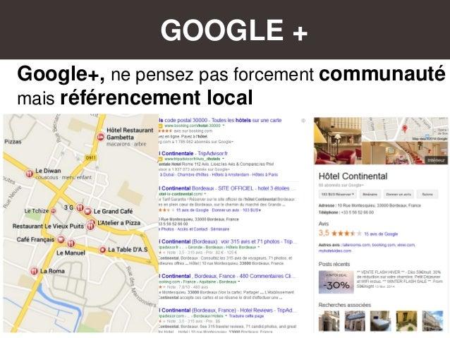 GOOGLE + Google+, ne pensez pas forcement communauté mais référencement local