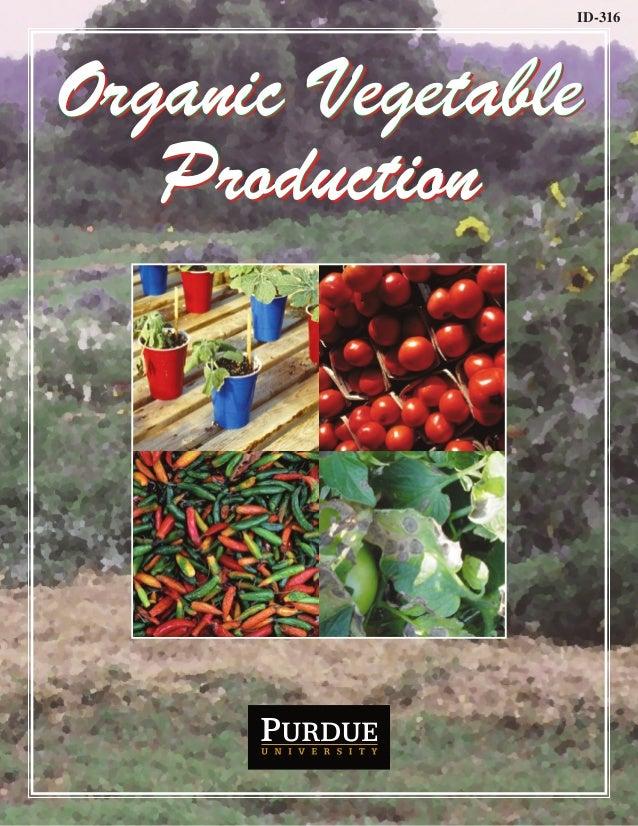ID-316  Organic Vegetable Production