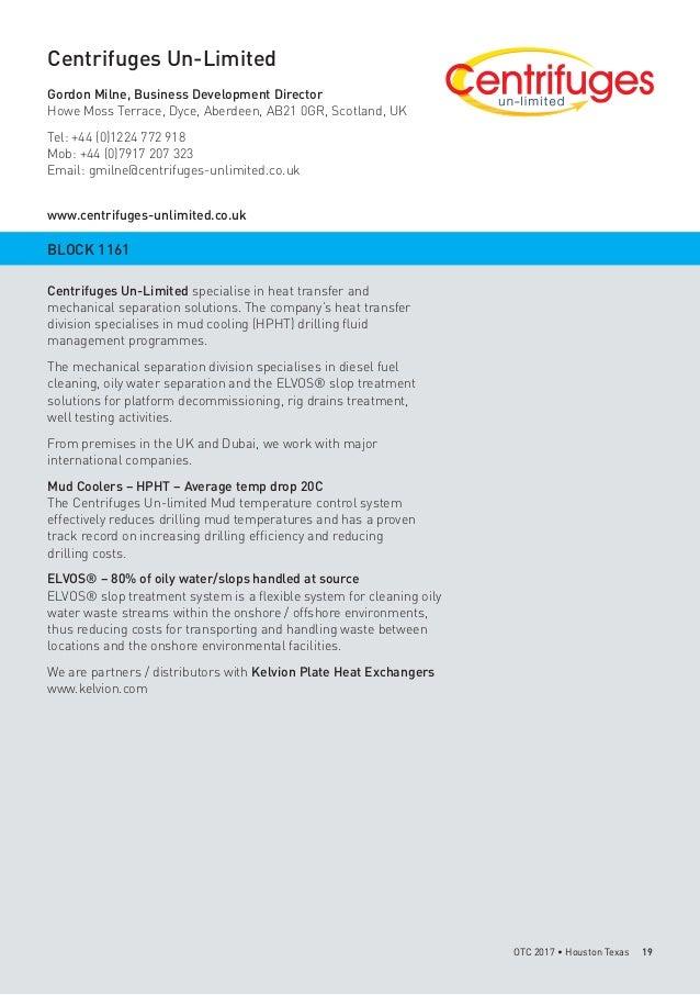OTC 2017 Scotland Pavilion Brochure