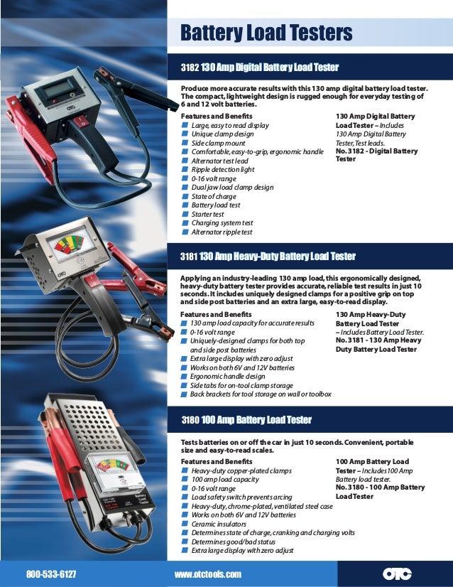 OTC 3181 130 Amp Heavy Duty Battery Load Tester