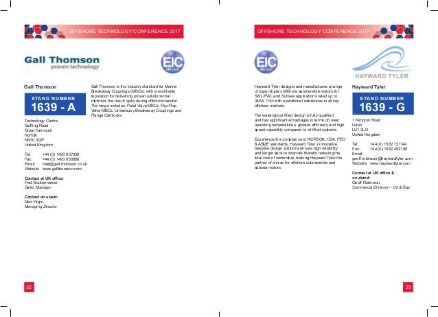 UK Group at OTC brochure 2017