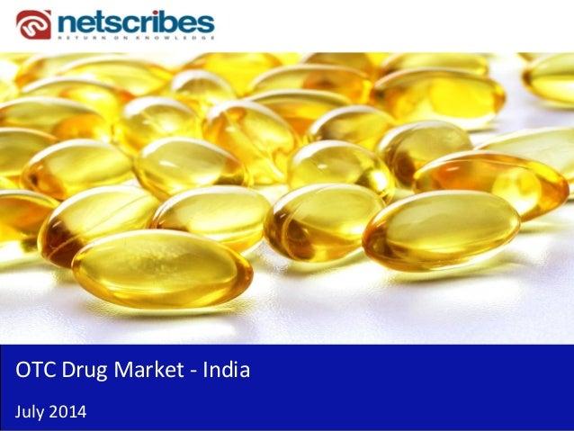 Insert Cover Image using Slide Master View Do not distort OTC Drug Market - India July 2014
