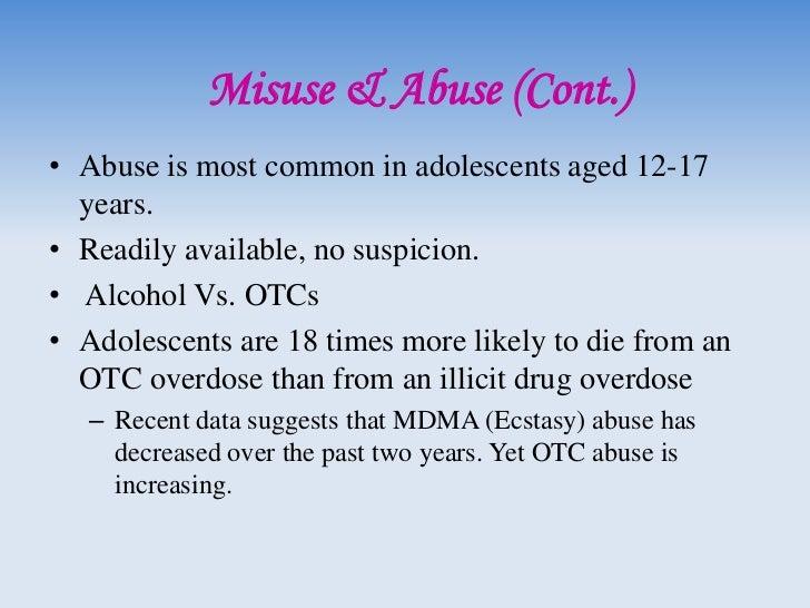 Abuse                        Ephedrine• Ephedrine can be converted to methamphetamine  chemically   – Formulas are readily...