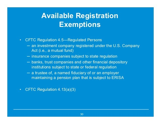Trade option exemption cftc