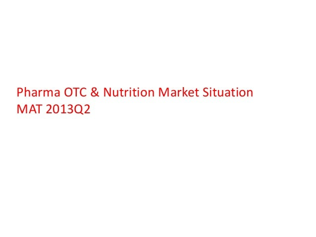 Pharma OTC & Nutrition Market Situation MAT 2013Q2