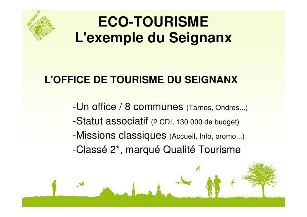 Ot du seignanx j rome lay formation mopa 2010 la d marche eco tou - Office de tourisme tarnos ...