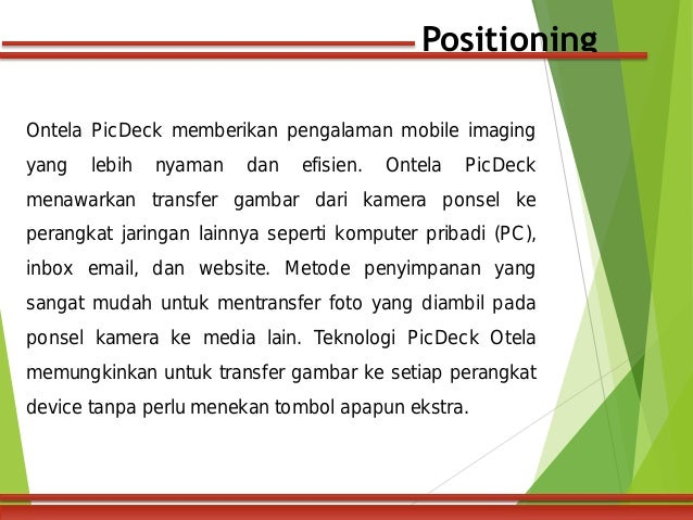 ontela picdeck a Ontela picdeck (b): customer segmentation targeting and positioning case analysis, ontela picdeck (b): customer segmentation targeting and positioning.