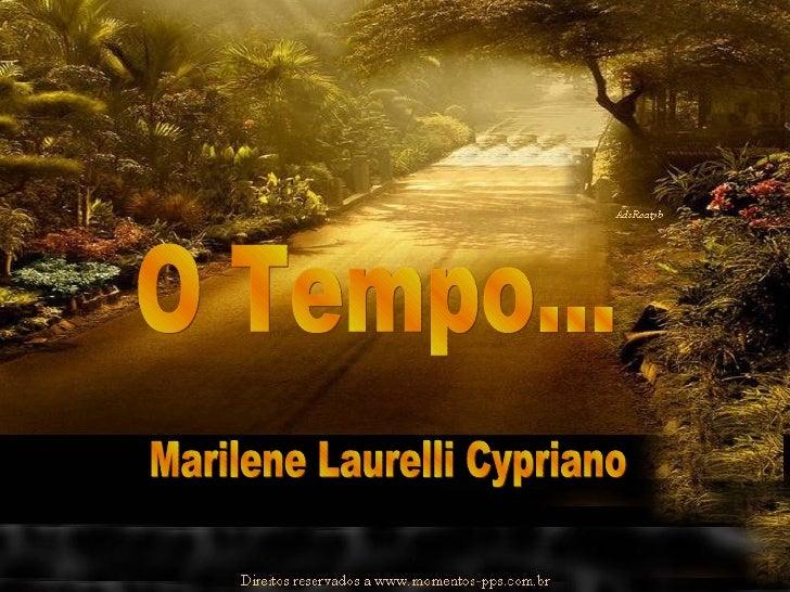 O Tempo... Marilene Laurelli Cypriano