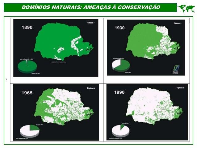 ' DOMÍNIOS NATURAIS: AMEAÇAS À CONSERVAÇÃO 