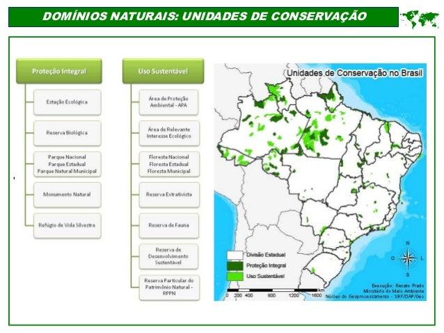 ' DOMÍNIOS NATURAIS: UNIDADES DE CONSERVAÇÃO 