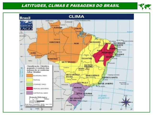 LATITUDES, CLIMAS E PAISAGENS DO BRASIL 