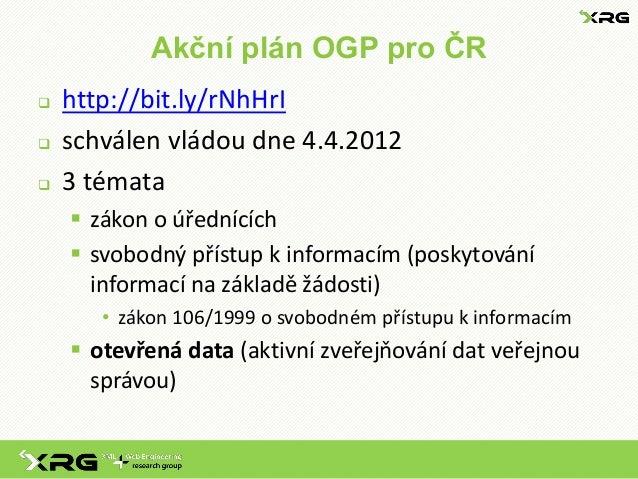 Otevrena data v CR - aktualni stav (brezen 2013) Slide 3